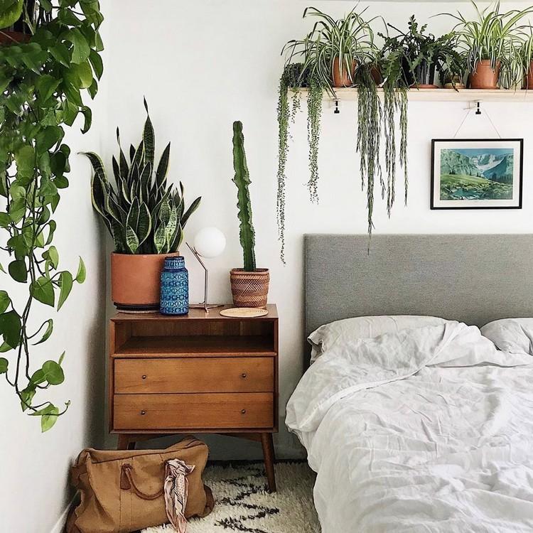 Bohemian Style Bedroom Design (22)